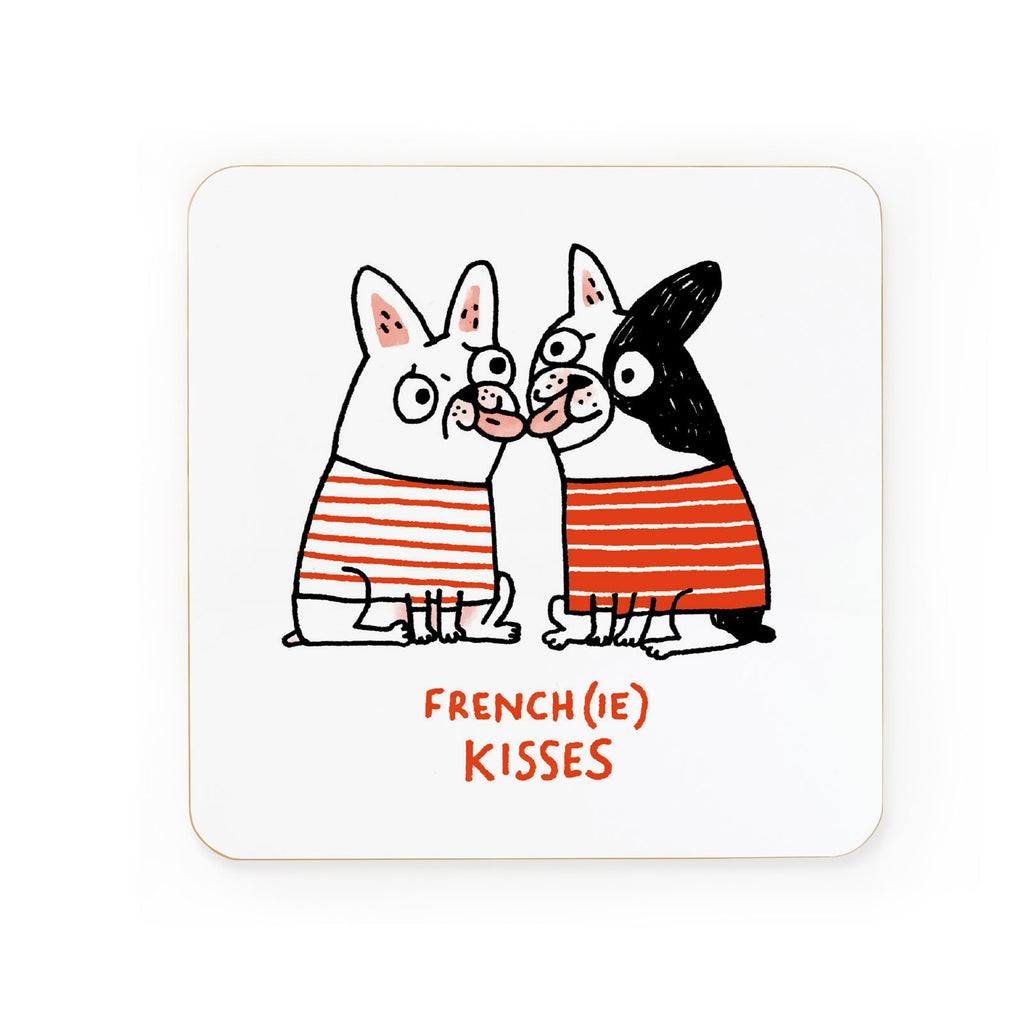 Frenchie Kisses You Coaster | Gifts for Animal Lovers