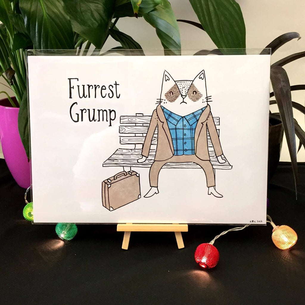 Furrest Grump Print | Gifts for Animal Lovers
