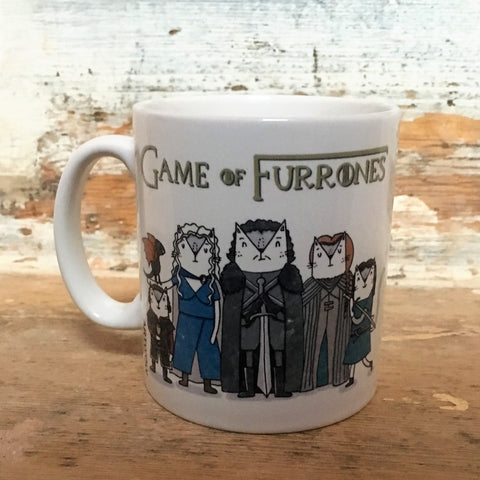 Game of Furrones Mug Front | Gifts for Cat Lovers
