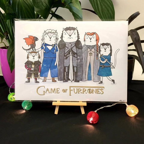 Game of Furrones Print | Gifts for Cat Lovers