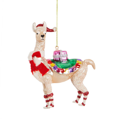 gifting llama christmas decoration funny festive animals