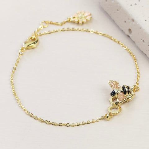 Gold Bumblebee Bracelet | Jewellery for Nature Lovers