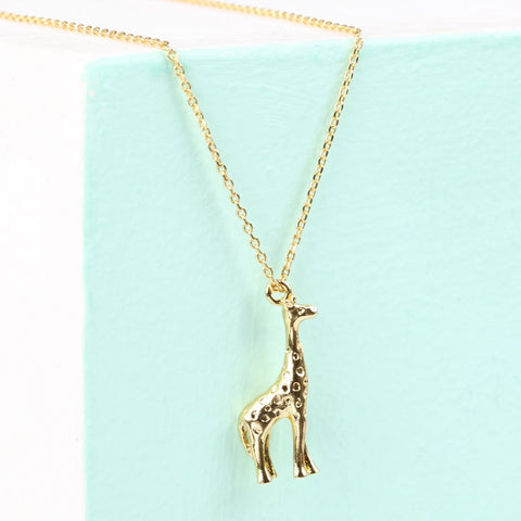 Gold Giraffe Necklace | Animal Themed Jewellery