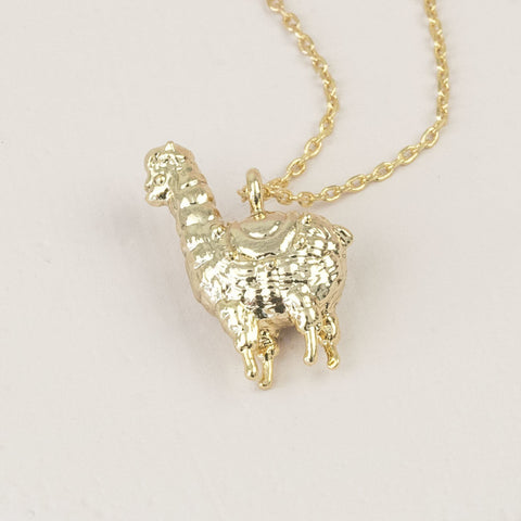 Gold Llama Necklace Pendant | Gifts for Animal Lovers