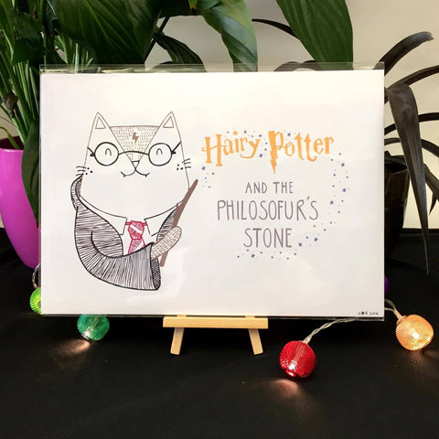 Hairy Potter and the Philosofur's Stone Print | Gifts for Animal Lovers