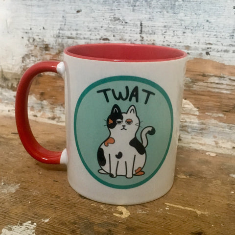Twat Cat Mug | Funny Gifts for Cat Lovers | Free UK Delivery