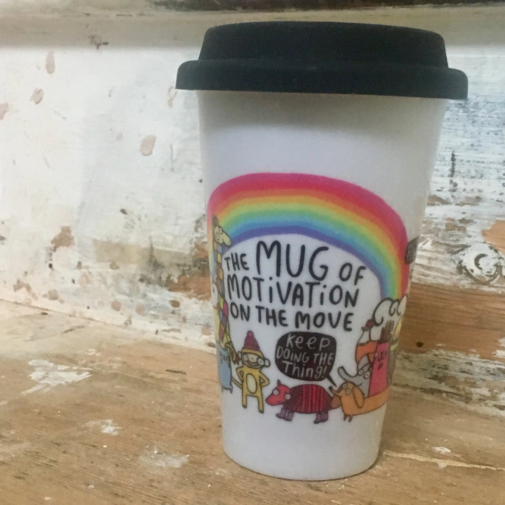 Mug Of Motivation Travel Mug | Eco-Friendly Gifts for Animal Lovers