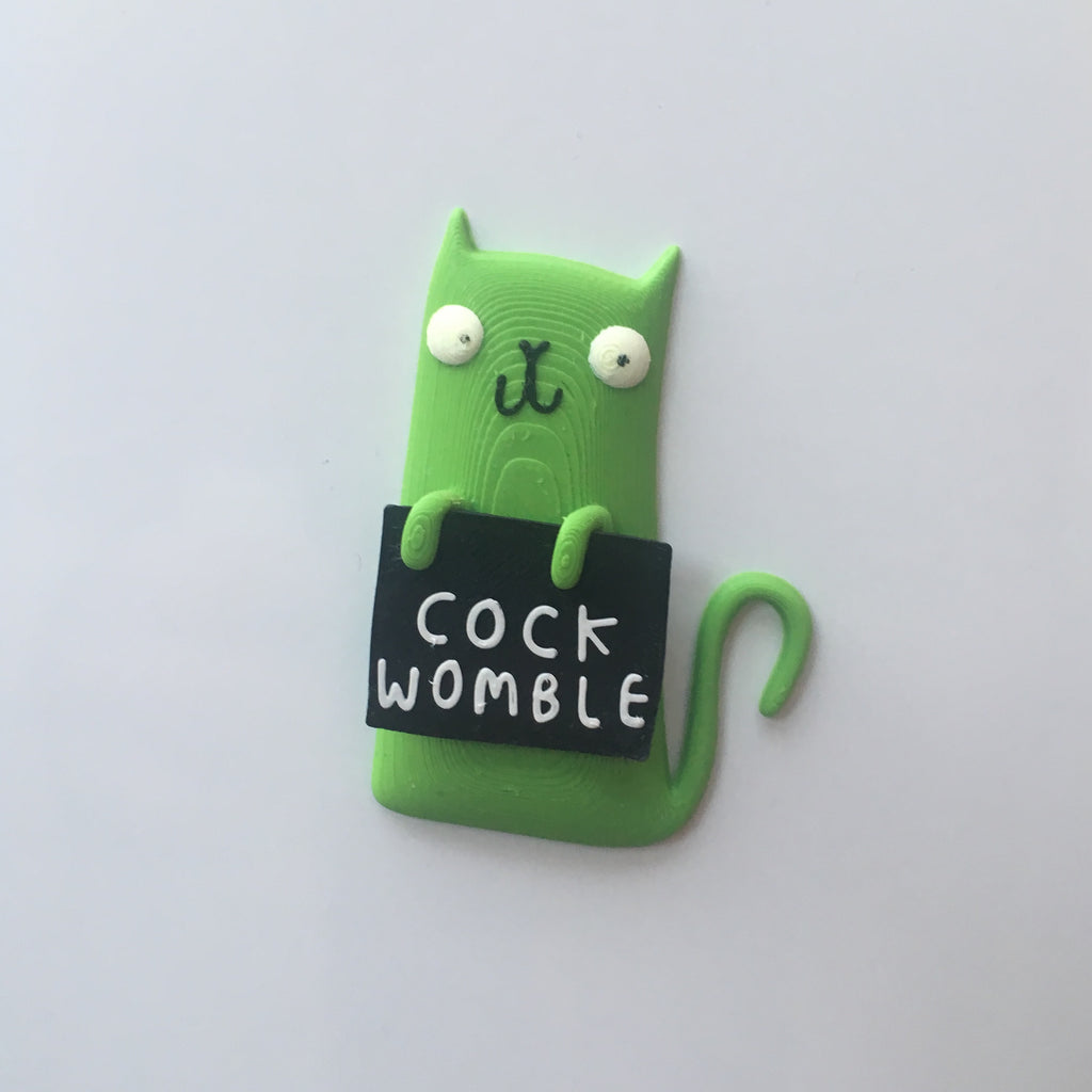 Cockwomble Cat Magnet | Funny Homeware for Animal Lovers