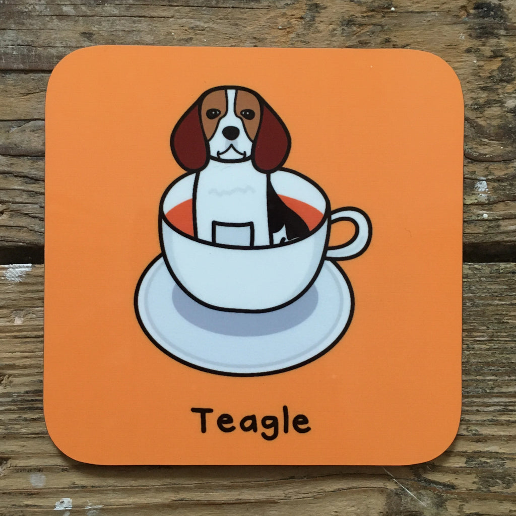 Teagle Coaster | Beagle Themed Stocking Filler | Gifts for Animal Lovers