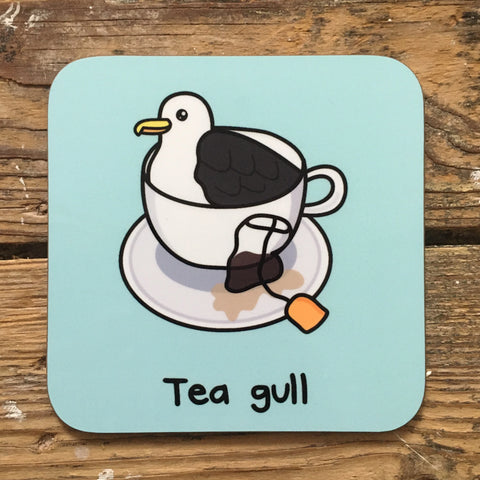 Tea Gull Coaster | Funny Secret Santa Gifts for Animal Lovers