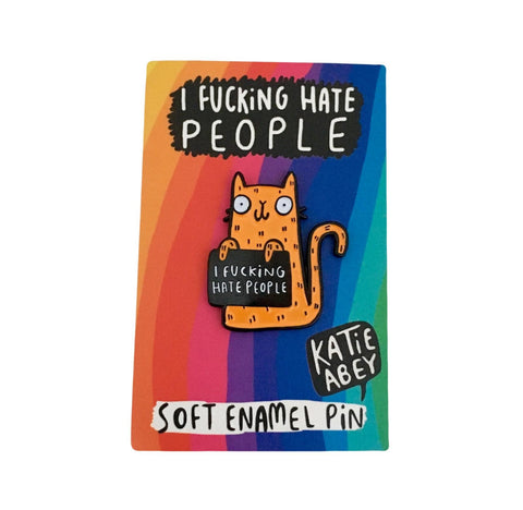 I Hate People Cat Pin | Angry Cat Lovers