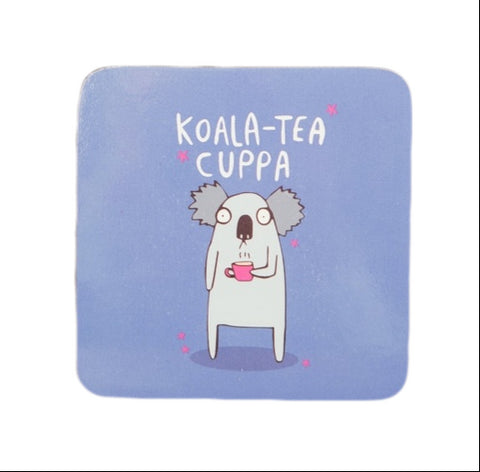 Koala-Tea Cuppa Coaster Front | Punderful Animal Themed Gifts