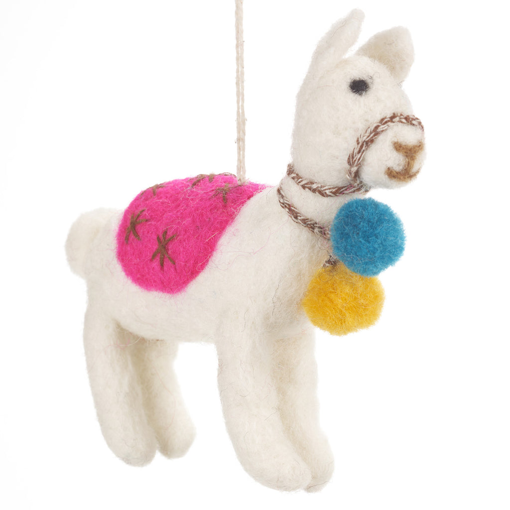 Fair Trade Llama Christmas Tree Decoration | Gifts for Animal Lovers