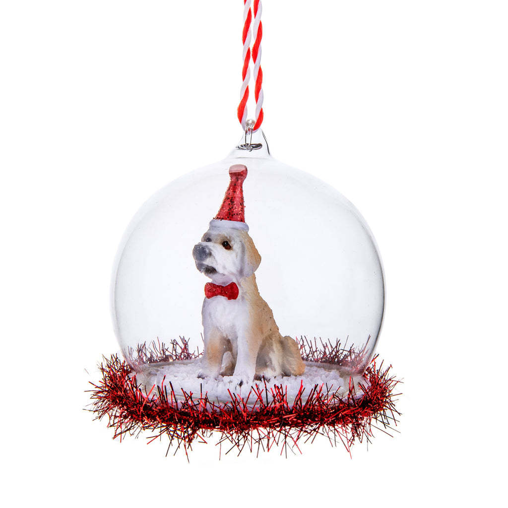 Labradoodle Tinsel Bauble | Dog Themed Christmas Tree Decorations