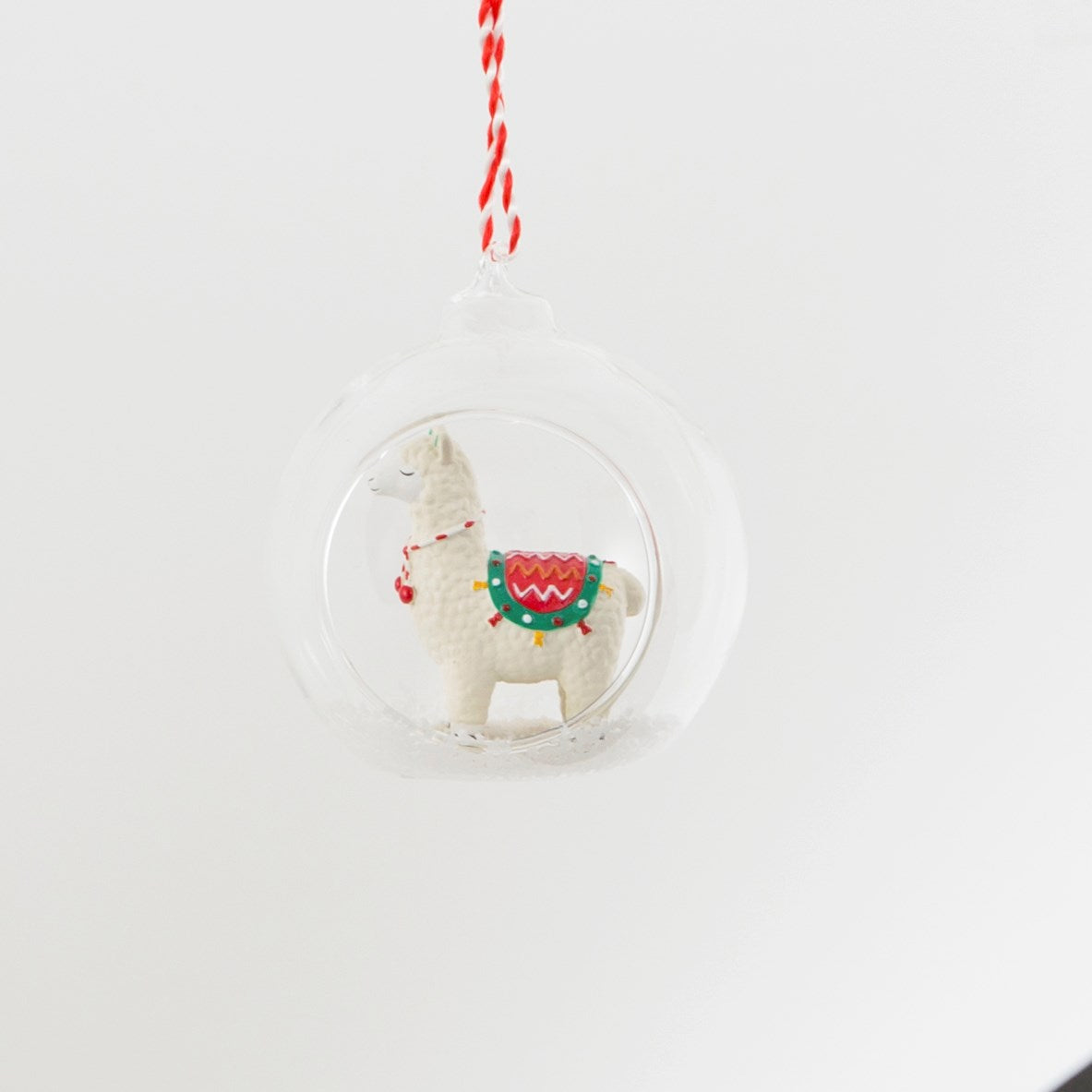 llama open bauble animal christmas tree decorations