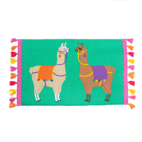 Llama Rug with Tassels by Sass & Belle | Gifts for Animal Lovers