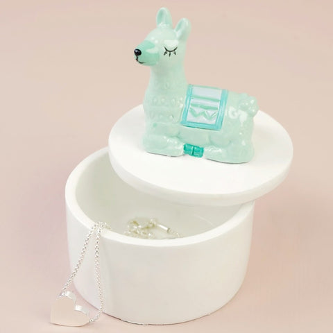 Llama Trinket Box | Llama Themed Stocking Fillers