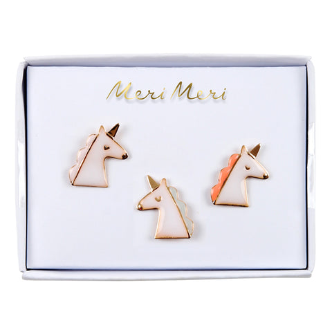 Unicorn Enamel Pins by Meri Meri at Gifts for Animal Lovers