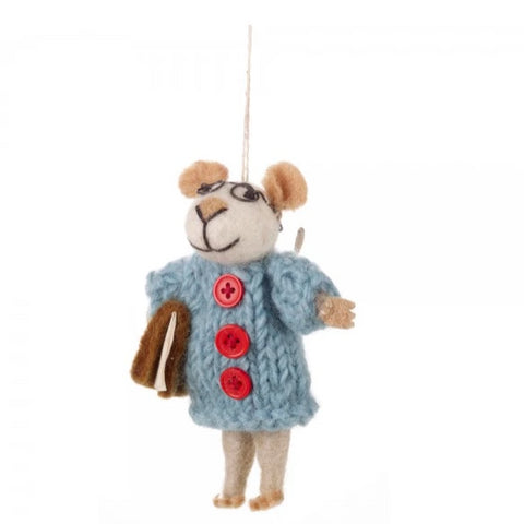 Mrs Mouse Christmas Decoration | Gifts for Animal Lovers