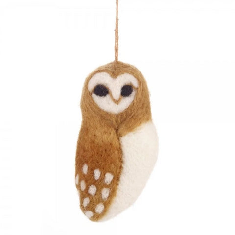 Felt Owl Christmas Decoration | Animal Themed Gifts