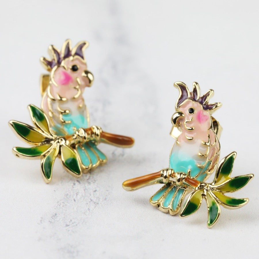 Parrot Stud Earrings | Animal Themed Jewellery