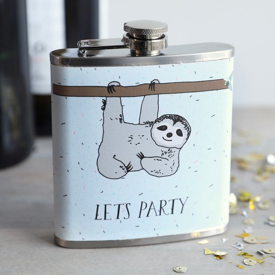 Party Sloth Hip Flask | Unique Gifts for Sloth Lovers