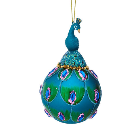 Peacock Christmas Bauble | Animal Themed Decorations