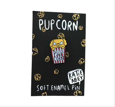 Pupcorn Enamel Pin | Punderful Gifts for Dog Lovers