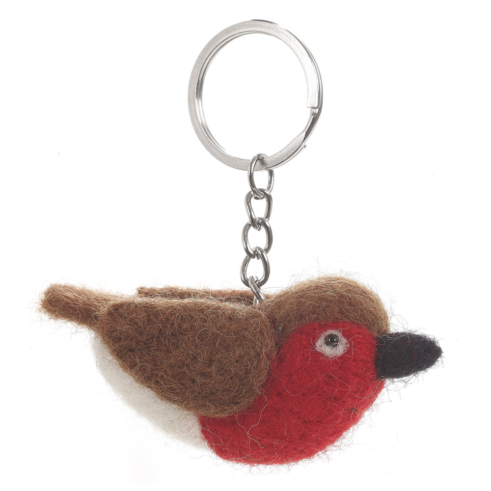 Fair Trade Robin Keyring at Gifts for Animal Lovers