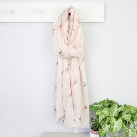 Rose Gold Llamas Scarf | Accessories for Llama Lovers
