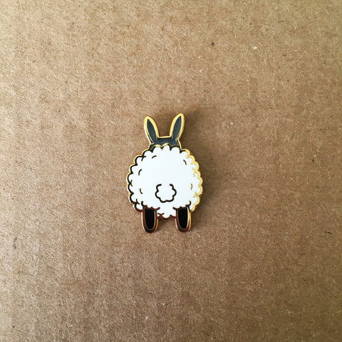 Sheep Butt Enamel Pin | Funny Gifts for Animal Lovers
