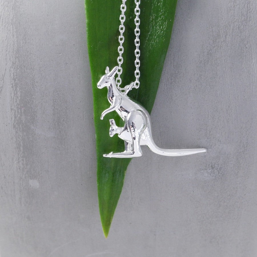Silver Kangaroo Necklace | Jewellery for Animal Lovers