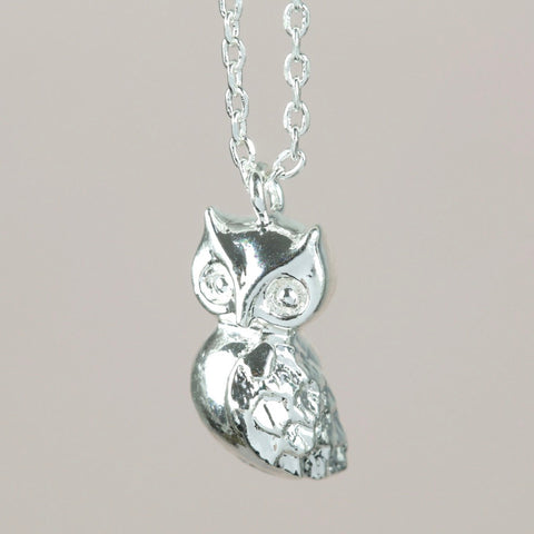 Silver Owl Necklace | Jewellery for Animal Lovers