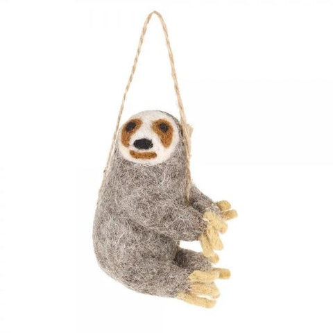 Sloth Hanging Decoration | Fair Trade Animal Christmas Tree Decorations