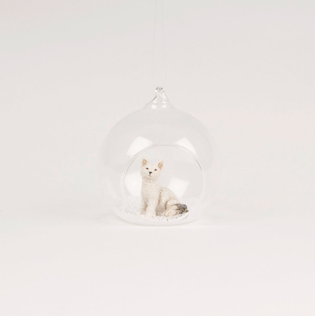 Snow Fox Bauble | Woodland Animal Christmas Decorations