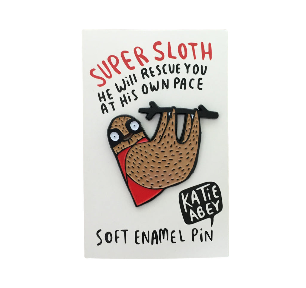 Super Sloth Enamel Pin | Enamel Pins for Animal Lovers