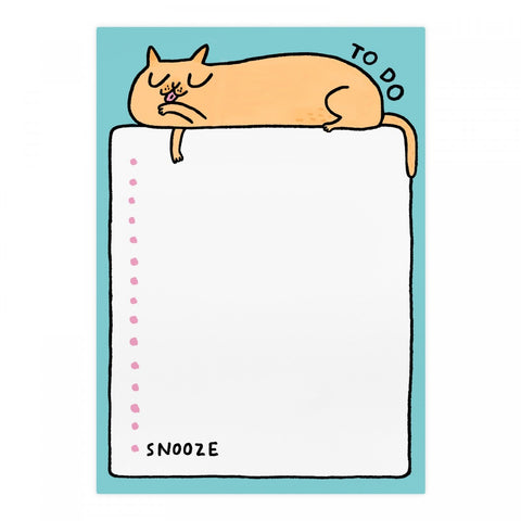 To Do Lazy Cat A5 Notepad | Gifts for Animal Lovers