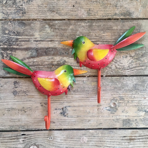 Pair of Tropical Bird Hooks | Homeware for Animal Lovers