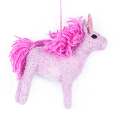 Pink Unicorn Christmas Tree Decoration | Gifts for Animal Lovers