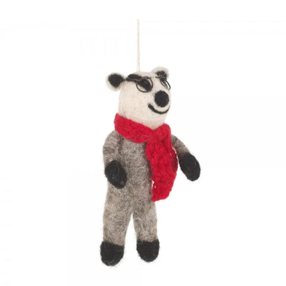 Badger & Scarf Hanging Decoration | Animal Home Decor