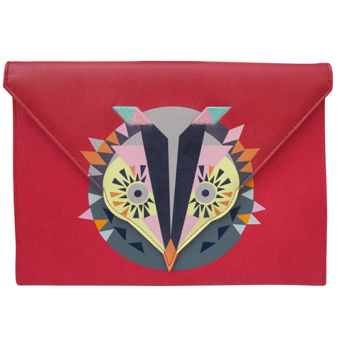 Red Owl Clutch Bag by Disaster Designs | Animal Themed Bags