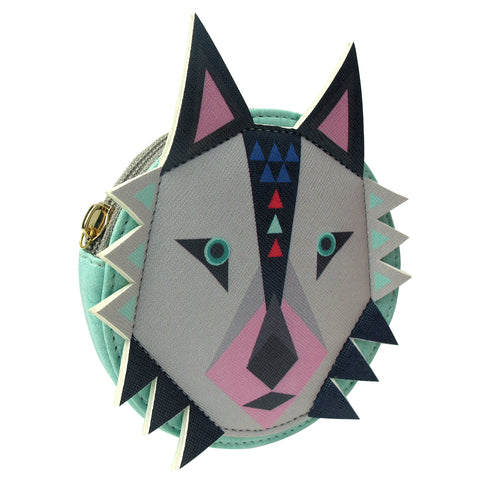 Geometric Wolf Purse by Disaster Designs | Gifts for Animal Lovers