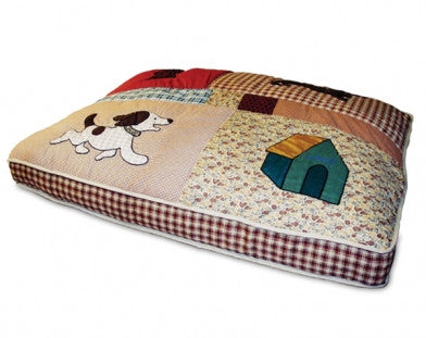Quilted Applique Pet Bed