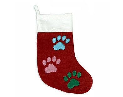 Multi-Colored Paw Stocking