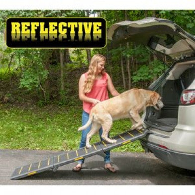 Pet Gear Tri-Fold Pet Ramp Reflective, Extra Wide