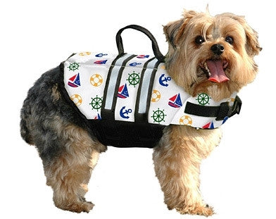 "Paws Aboard ""Nautical"" Designer Life Jacket"