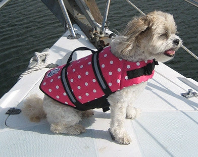 Paws Aboard Polka Dot Doggy Life Jacket