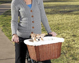 Solvit Wicker Tagalong Pet Bicycle Basket