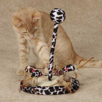 Savvy Tabby Wild Time Chirping Teaser Cat Toy