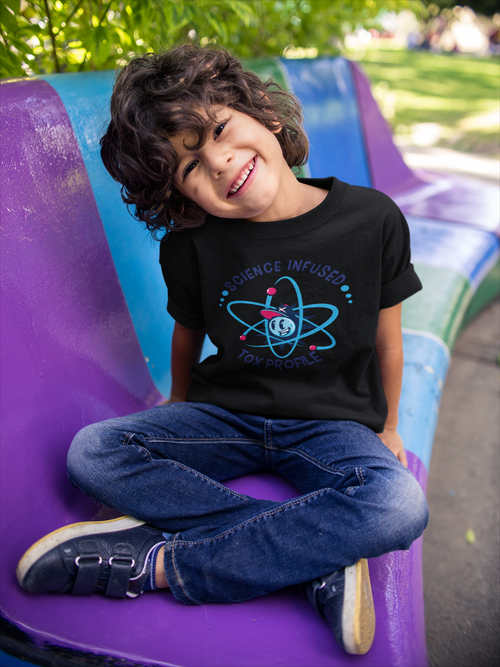 Boys Atom Logo Tee - Black